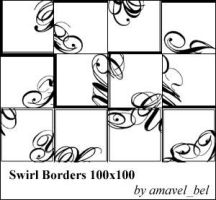 Swirl Borders Brushes by amavel-bel
