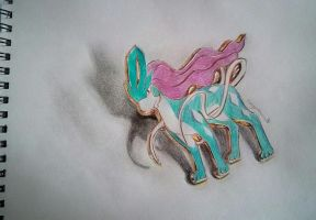 Suicune Brooch by Rayquazanera