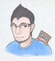 Markiplier and His Little Biscuit by The-Skies-Pieces