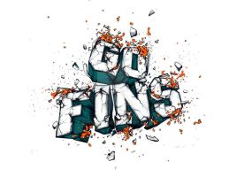 GO FINS by CHIN2OFF