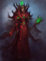 Crimson mage by FirstKeeper