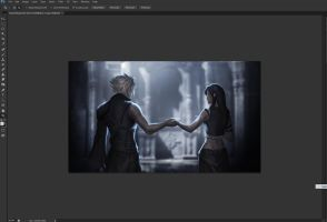 FF7 fan art in progress by Sinto-risky