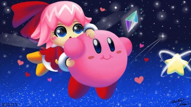 Kirby x Ribbon by Bowser2Queen