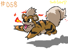 #058 Growlithe by SaintsSister47