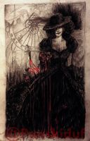 (Making my own Tarot) THE DEVIL by panskiduf