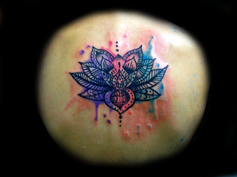 Lotus Flower Watercolor Tattoo by Daft Art by TheJJoY