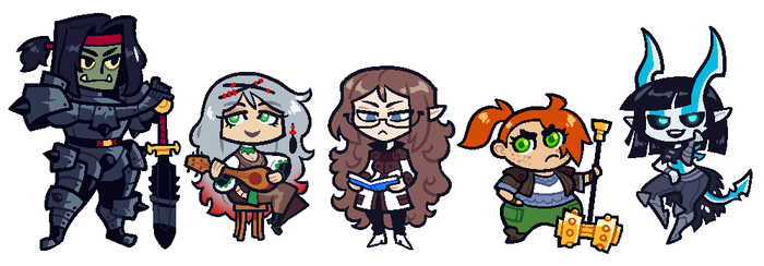 COMMISSION: DnD Group 6 by Cubesona