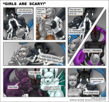 Commission - Girls Are Scary by Vaporeon249