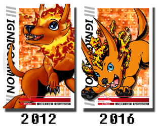 Ignigoamon Card Comparison by xXlSalimuslXx