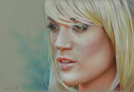 Carrie Underwood Drawing by golfiscool