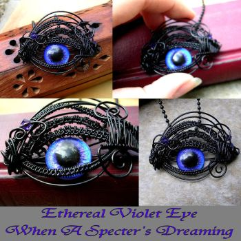 Wire Wrap - Blue Purple Violet Eye - Super Shift by LadyPirotessa