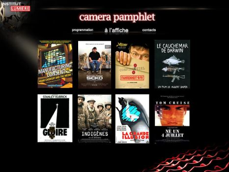 camera pamphlet - page accueil by Frenchroses