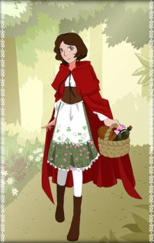 Little Red Riding Hood by MiniatureBlueOwl