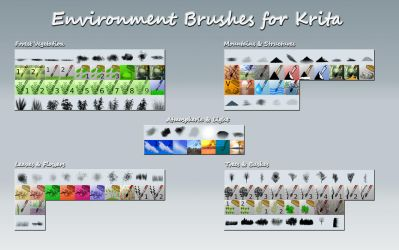 Krita Environment Brushes by IForce73