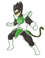Vegeta Lanter Verde by GuxD