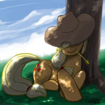Apples Relaxing in the Shade by johnjoseco