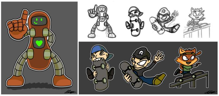 Skate Characters by Adam-Clowery