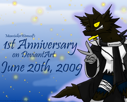 FIRST ANNIVERSARY, YAY by MoonstalkerWerewolf