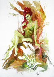 Poison Ivy Sketch by Atzinaghy