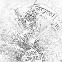 Greycell - 'Aux Mortes' Album Cover by bedowynn