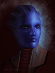 Mass Effect: Matriarch Aethyta by ruthiebutt