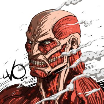 Digital Sketch Warm up 44 - Colossal Titan by Vostalgic