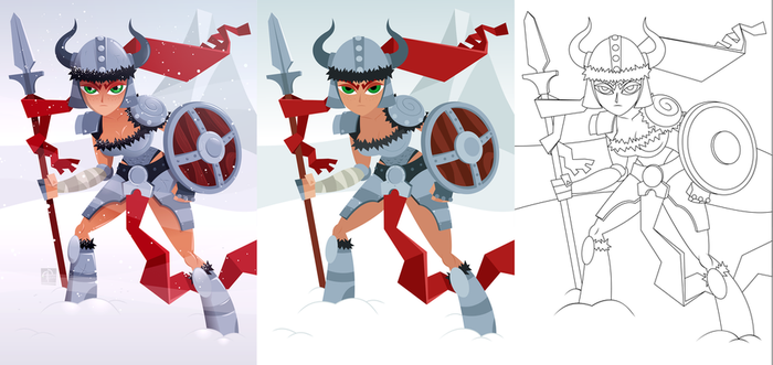 Viking Girl(process) by placitte2012