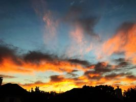 Orange Clouds by AnonymousRabbitLover