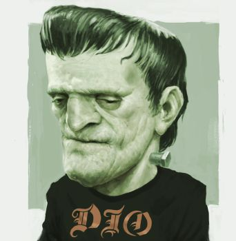 Frankenstein Sketch - Happy Halloween! by GammaGrey