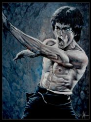 Bruce Lee fighting ETD by tonio48