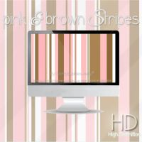 Pink and brown stripes by candybubblesweety