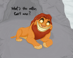 Whats the matter Simba by TLK-Peachii