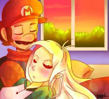 Mario and Tippi by mariogamesandenemies