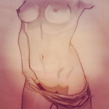 My Nude Drawing of the Female body by ChadwayneRichards