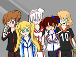 APH: Nyo Allies / Sports anime Edition / by united-drawer