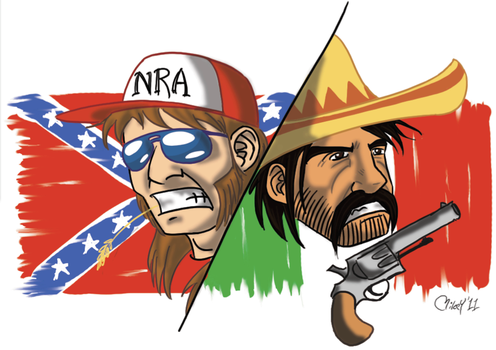 Mexican vs Redneck by MikeYoungster
