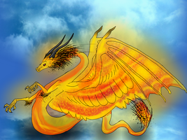 Sun, Dragon Series by LivingAliveCreator