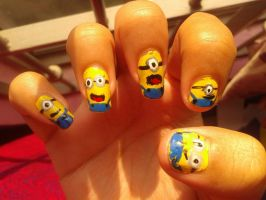 Scooby doo nail art by iman imran on deviantart minions nail art 2 by iman imran prinsesfo Image collections