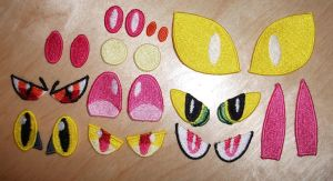 More Random Stuffed Animal Eye Patches by EthePony