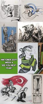 Inktober Week 4 by Unistonen