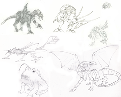 Sketchbook Creatures by Riot-Inducer
