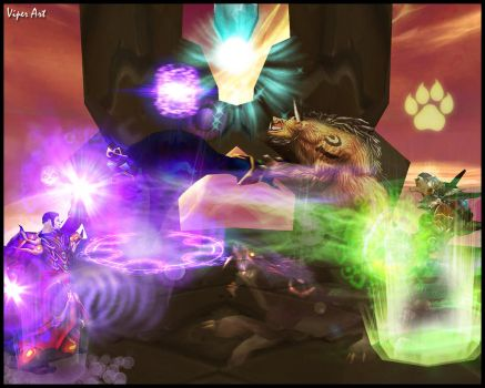 WoW Warlock vs Druid by Viper23rd