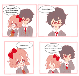 Sayori's jokes (comic) by ggaLli