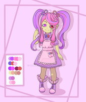 [closed] Adopt Auction Girl Monster by purloid