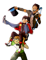 Draw My Squad Voltron Style by DancingRainbowLlama