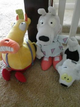 Rocko's Modern Life plushes! by SlimeyWoolHat