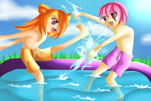 Commission: Fun in the Sun by Valorie-Sonsaku