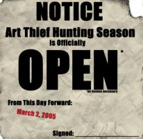 Art Thief Hunting Season by zoephoenix