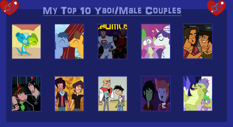 Tito's Top 10 Yaoi Couples by Tito-Mosquito