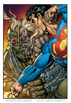 Superman vs Doomsday by CarlosMorenoD-Art
